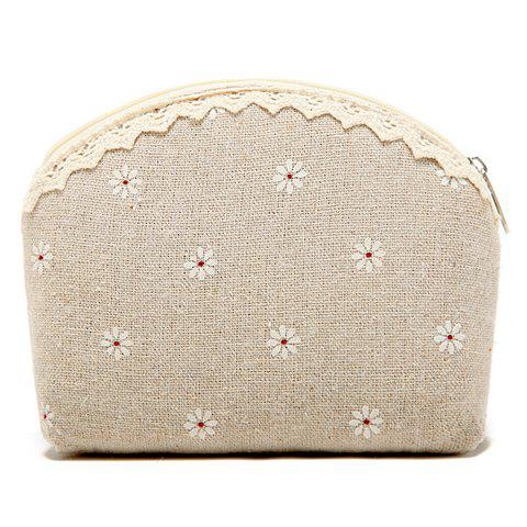 Sweet Floral Print and Lace Design Women's Clutch Wallet