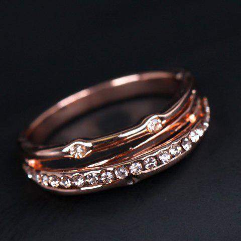 Layered Beads Ring - ROSE GOLD ONE-SIZE