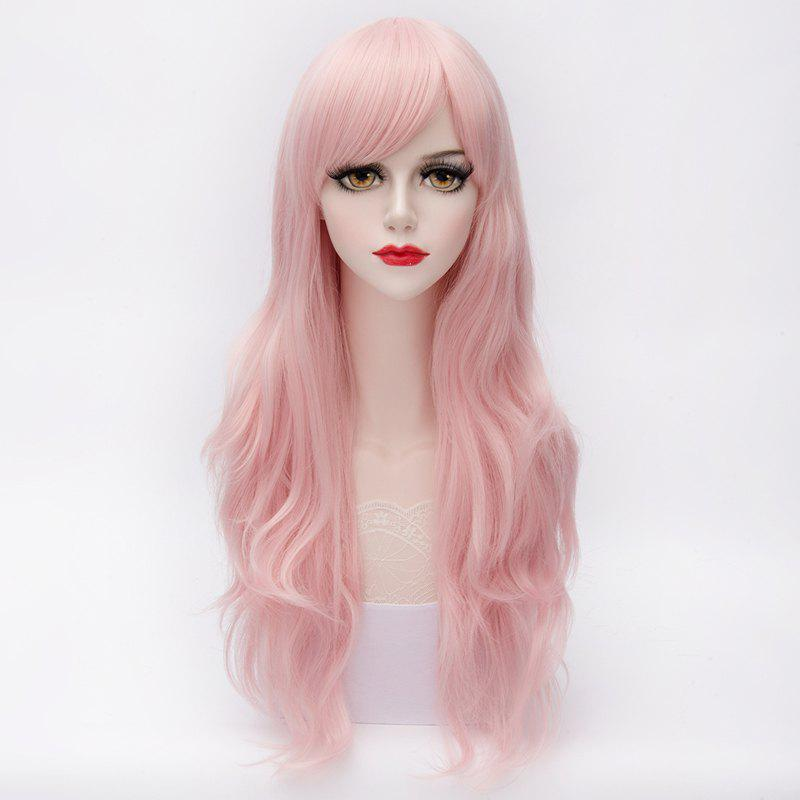 Charming Towheaded Long Capless Wave Side Bang Assorted Color Harajuku Lolita Synthetic Wig For Women - PINK 3 /23