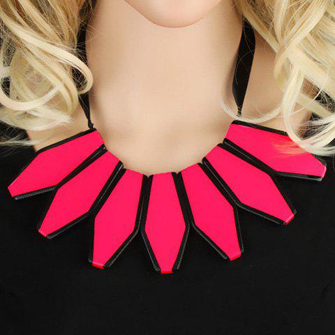 Stylish Fluorescence Color Sweater Chain Necklace For Women
