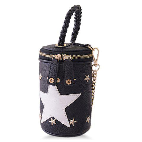 Stylish Chains and Rivets Design Tote Bag For Women - BLACK