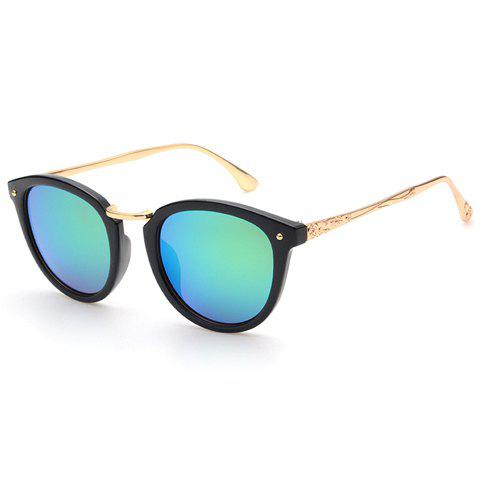 Chic Cameo Embellished Black Frame Women's Sunglasses