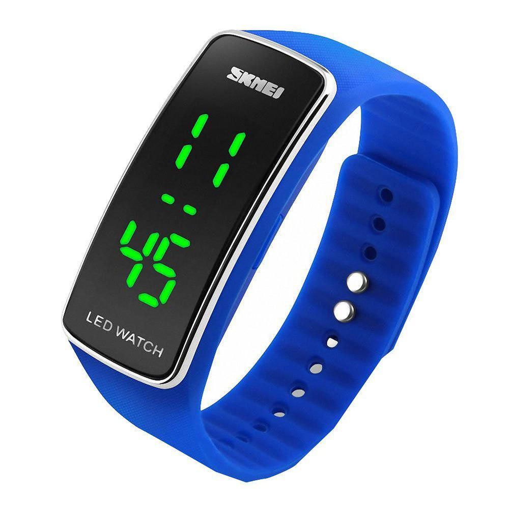 Skmei 1119 LED Sports Watch with Date Function Rubber Band - BLUE