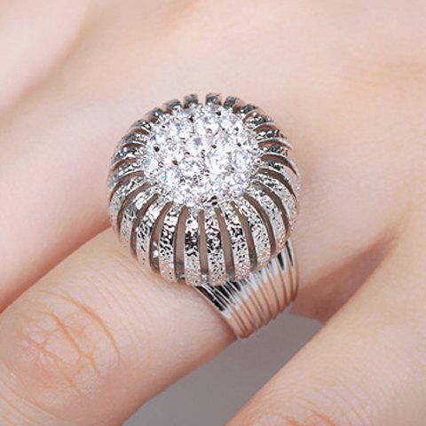 Trendy Rhinestone Stereoscopic Ring For Women