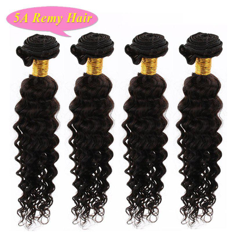 Faddish Fluffy Deep Wave 5A Indian Remy Hair 4 Pcs Lot Natural Black Women s  Human 3c9787d607