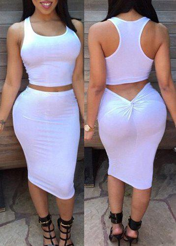 Bodycon skirt with crop top – Cool novelties of fashion 2017 photo ...