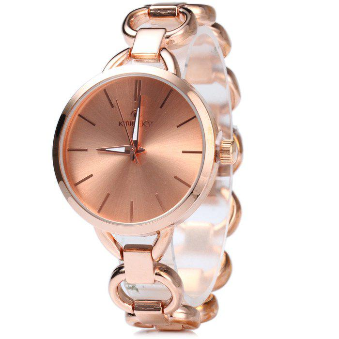 Kingsky 5156 Water Resistant Women Japan Quartz Watch with Stainless Steel Band IP Plating Case - ROSE GOLD