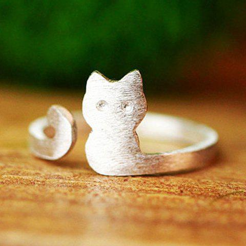 Cute Cat Cuff Ring For Women