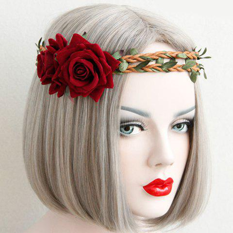 Stylish Vine Weaved Flower Hoop For WomenAccessories<br><br><br>Color: RED