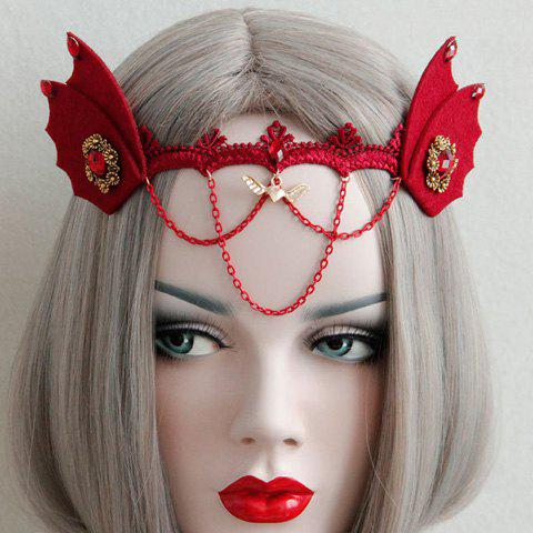 Gothic Demon Beast Ear Hairband For Women -  RED