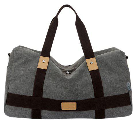 Casual Splicing and Rivets Design Briefcase For Men - GRAY