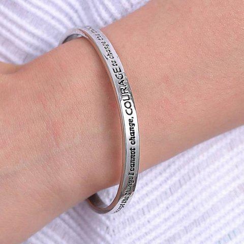 Fashionable Stylish Solid Color Letter Printed Cuff Bracelet For Women