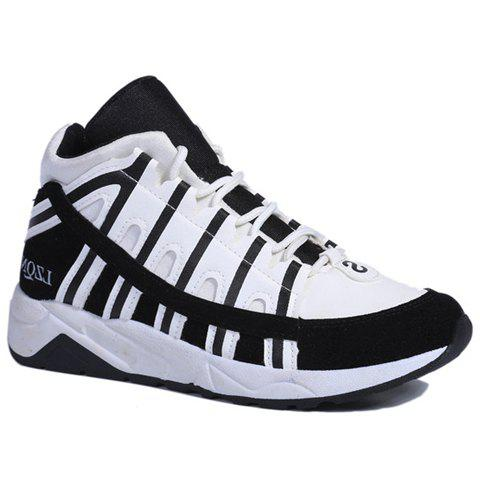 trendy splicing and color matching design athletic shoes