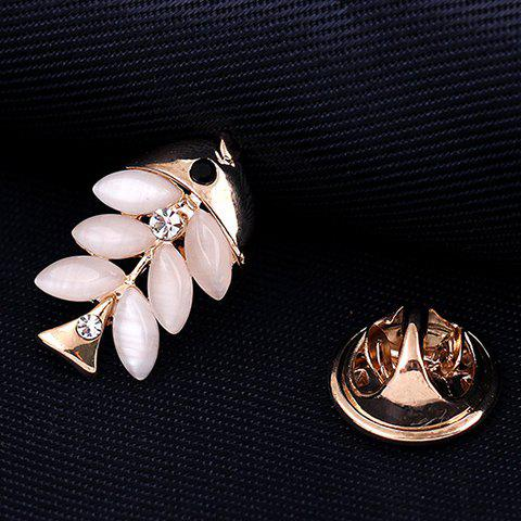 Cute Faux Opal Fish Brooch For Women - PINK