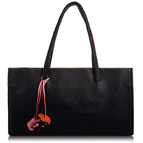 Retro Flowers Pendant and Candy Color Design Tote Bag For Women