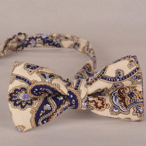 Stylish Fulled Ethnic Print Bow Tie For Men