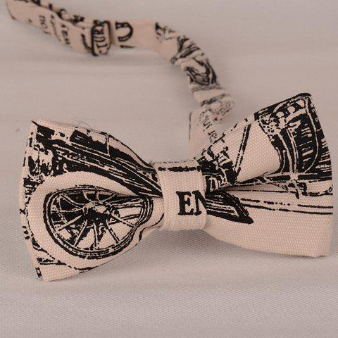 Stylish Wheel Scrawl Pattern Bow Tie For Men