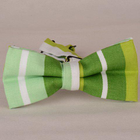 Stylish Slender and Wide Stripe Pattern Men's Bow Tie - GRASS GREEN