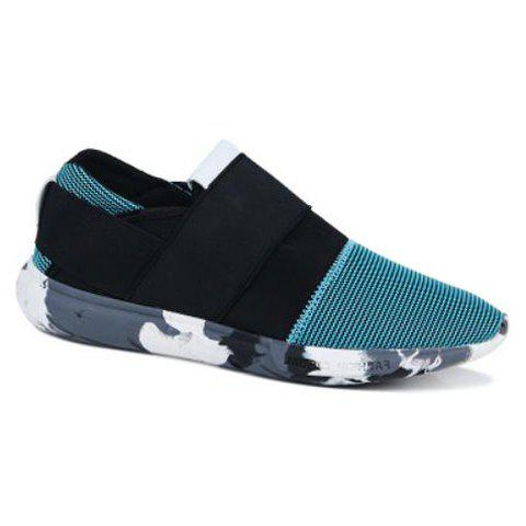 Fashion Mesh and Color Block Design Casual Shoes For Men - LIGHT BLUE 44