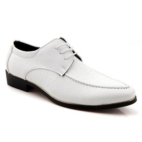 trendy pointed toe and embossing design formal shoes for