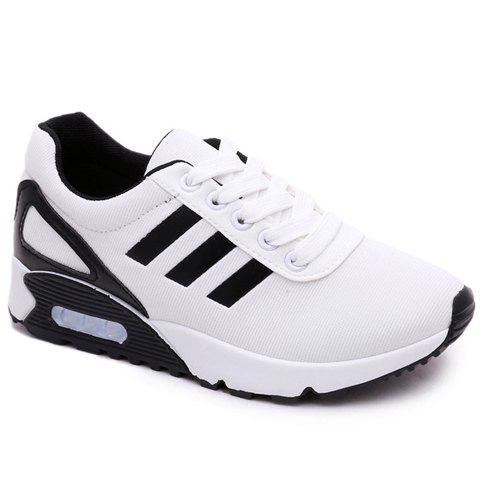 trendy color matching and lace up design athletic shoes