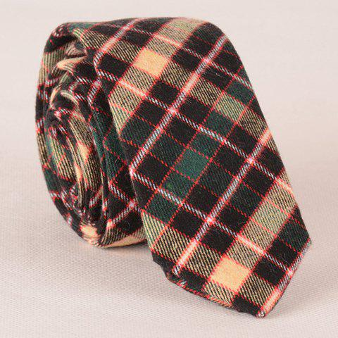 Stylish Casual Tartan Pattern Men's Tie - CHECKED