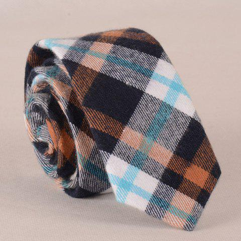 Stylish Simple Tartan Pattern Tie For Men