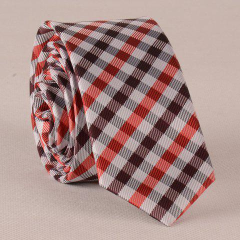 Stylish Concise Tartan Pattern Tie For Men