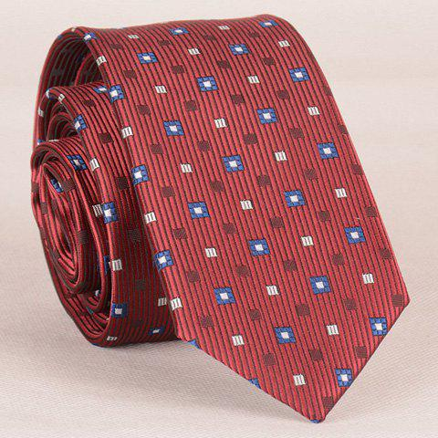 Stylish Lattice and Vertical Striped Pattern Tie For Men