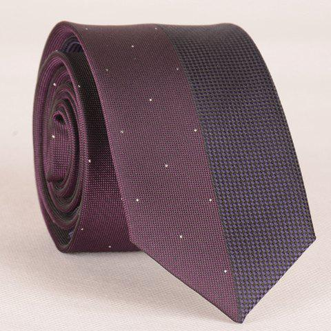 Stylish Small Dots Jacquard Color Splice Men's Tie - AS THE PICTURE
