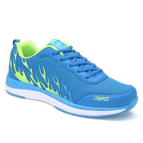 Stylish Mesh and Color Block Design Athletic Shoes For Men - BLUE 44