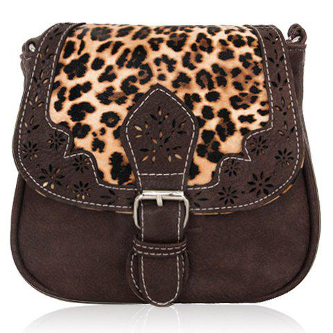 Retro Engraving and Printed Design Crossbody Bag For Women - COFFEE
