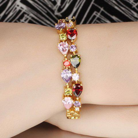 Chic Colored Rhinestoned Women's Layered Bracelet
