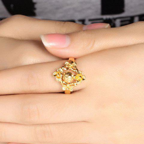 Retro Style Solid Color Adjustable Finger Ring