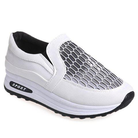 trendy gauze and splicing design s athletic shoes