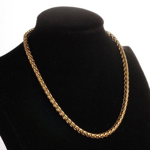 Stylish Solid Color Chain Men's Necklace