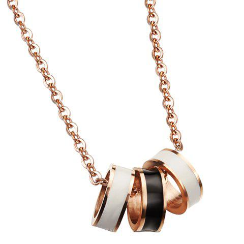 Trendy Color Block Pendant Necklace For Women