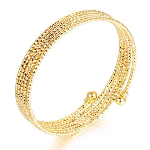 Delicate Layered Solid Color Spiral Spring Women's Bracelet - GOLDEN