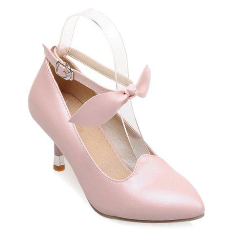 Cute Solid Color and Bow Design Pumps For Women - PINK 37