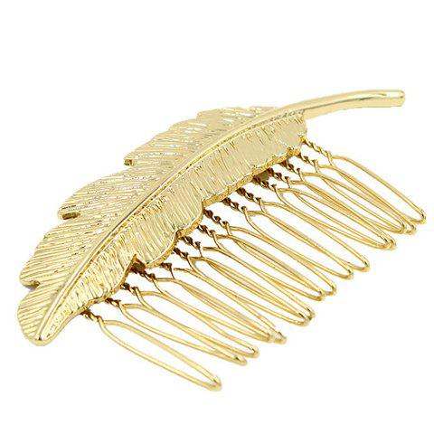 Fantastic Solid Color Leaf Women's Hair Comb - GOLDEN