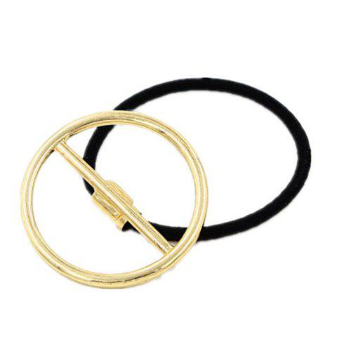 Trendy Hollow Out Round Women's Elastic Hair Band - GOLDEN