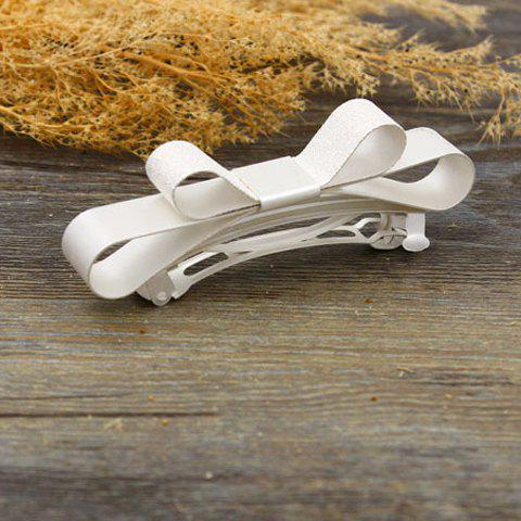Chic Solid Color Bow Women's Hairgrip - SILVER
