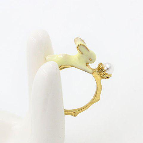 Chic Bunny Shape Cuff Ring For Women - GOLDEN