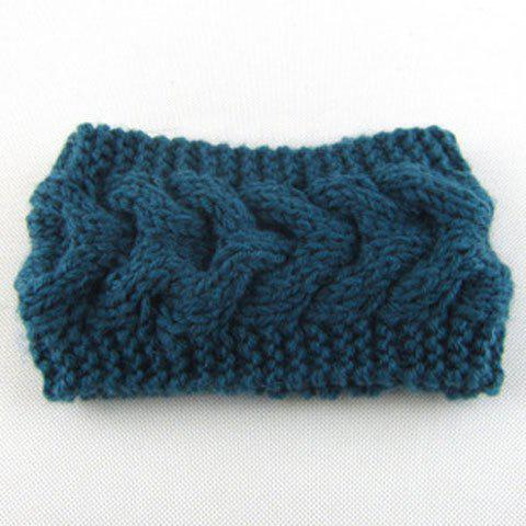 Chic Crochet Fishtail Shape Solid Color Women's Knitted Headband - RANDOM COLOR