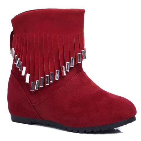 Stylish Rhinestones and Fringe Design Shoes For Women