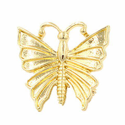 Sweet Solid Color Butterfly Women's Hairgrip - GOLDEN