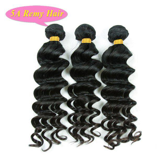 цена на 5A Remy Hair Trendy Loose Body Wave Natural Black 3 Pcs/Lot Women's Indian Human Hair Weft