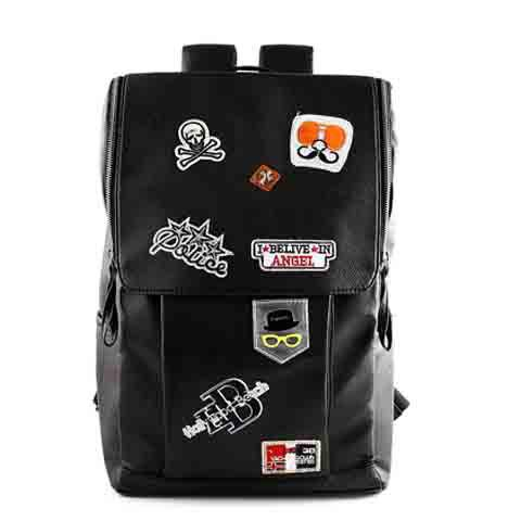 Trendy Graffiti and Embossing Design Backpack For Men dekesen new graffiti trendy sneakers shoes for men 100
