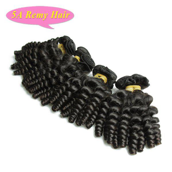 Prevailing Baby Curl Natural Black Women's 5A Indian Remy Hair Weave 4 Pcs/Lot - BLACK 12INCH*12INCH*14INCH*14INCH