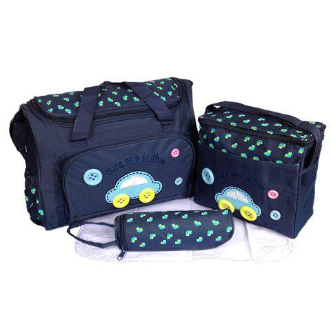 Stylish Car Pattern and Printed Design Diaper Bag For Women - DEEP BLUE